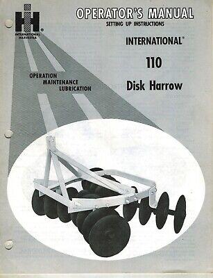 International110 3-point Hitch Disc Harrow Operators Manual