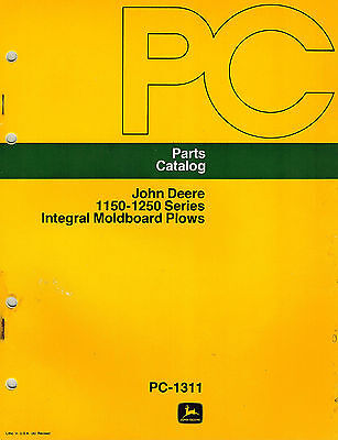 John Deere Vintage 1150 1250 Integral Plows Parts Manual New Jd
