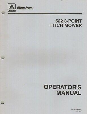Agco New Idea 522 3-point Hitch Mower Operators Manual New