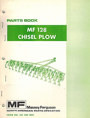 Massey Ferguson Vintage128 Chisel Plow Parts Manual