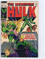 Incredible Hulk #114 Marvel 1969