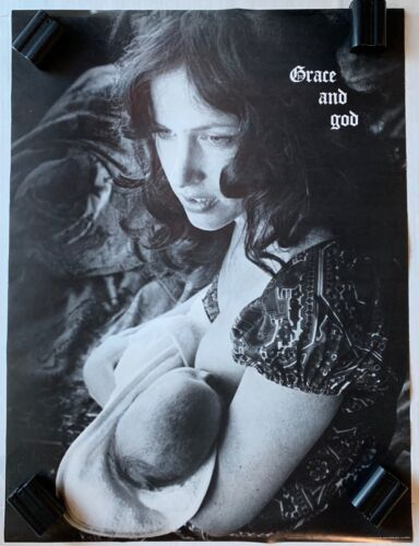 Grace Slick / Grace and God 1971 Poster Original Ex Condition Jefferson Airplane