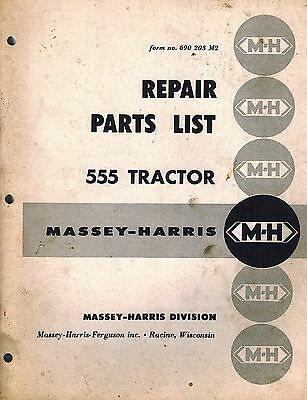 Massey-harris Vintage 555 Tractor Parts Manual Original 690 203 M2