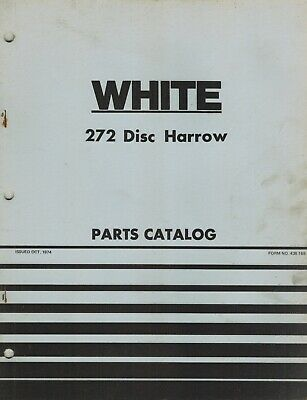 White 272 Disc Harrow Parts Manual