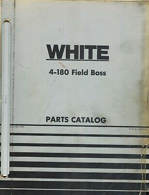 White 4-180 Field Boss Tractor Parts Catalog Manual