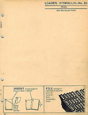 John Deere Vintage 50 Hydraulic Loader Parts Manual