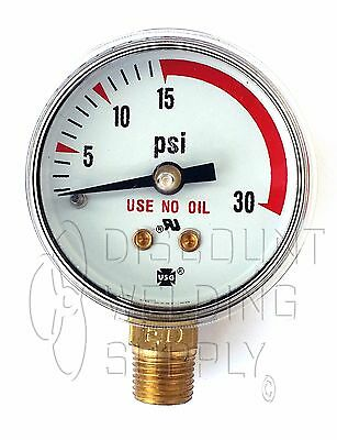 1-12 1.5 Usg Ametek Welding Gauge 30 Lbs Acetylene Regulator166691a Us-032