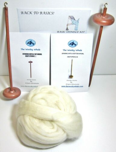 Double Basic Drop Spindles Yarn Spinning Kit