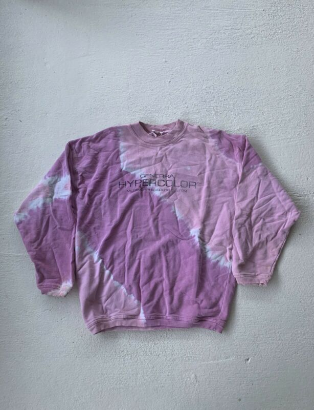 Vintage 80/90s Generra Hypercolor Metamorphic Color System Crewneck L Pink