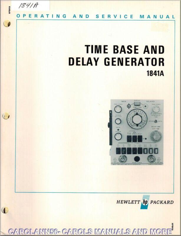 HP Manual 1841A TIME BASE & DELAY GENERATOR