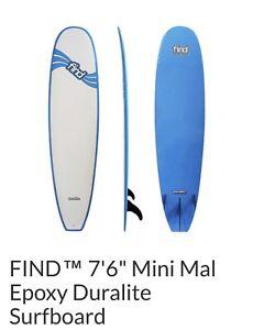 Surfboard - FIND Duralite 7'6'' + Leg strap