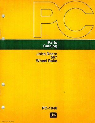 John Deere 567 Wheel Rake Parts Manual Jd New