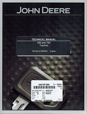 John Deere 670 770 Compact Tractor Service Technical Manual New