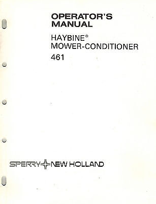 New Holland 461 Haybine Mower-conditioner Operators Manual New