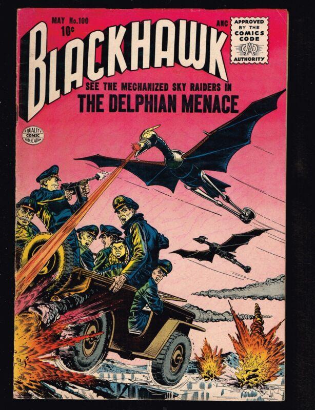 Blackhawk #100 ~ 1956 The Delphian Menace (6.0) WH
