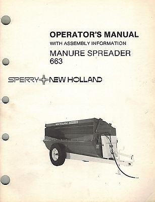 New Holland 663 Manure Spreader Operators Manual New