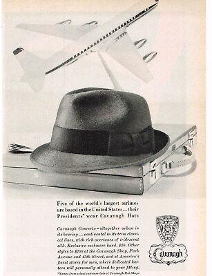 1960 CAVANAUGH Concerto Hat Men's Vintage Print Ad