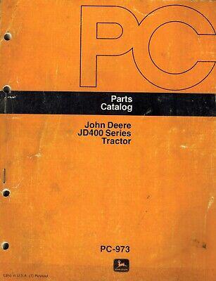 John Deere Original Vintage 400 Tractors Parts Manual Jd Pc-973