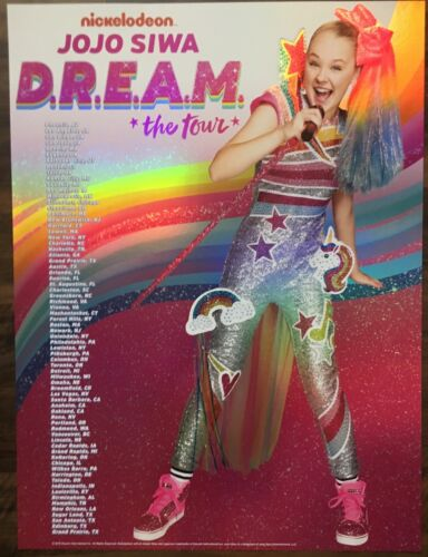 JO JO SIWA DREAM TOUR POSTER 2019