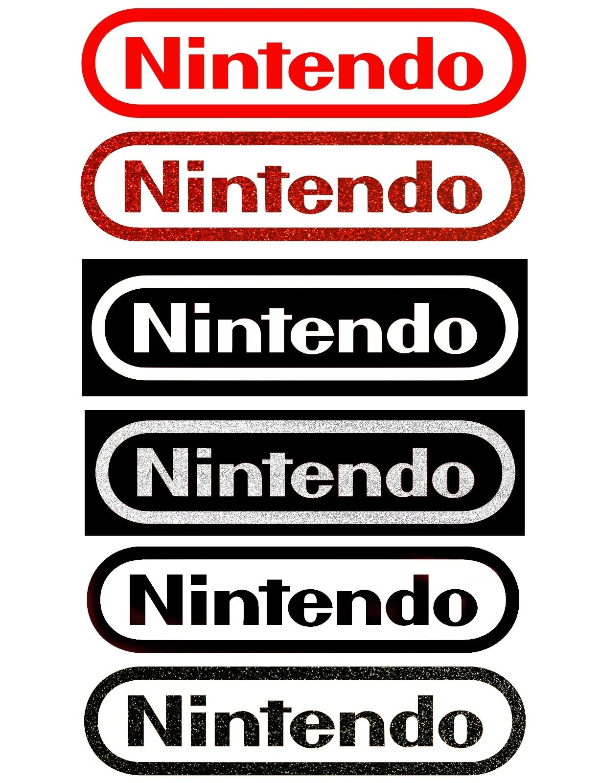 Home Decoration - NINTENDO Logo Sticker Decal Pick Color and Size