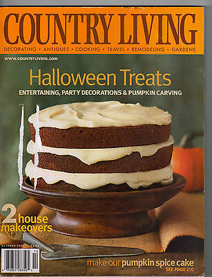 Country Living Magazine 2002 Halloween Decorating Costume Treats Pumpkin Recipes - Halloween Pumpkin Recipes