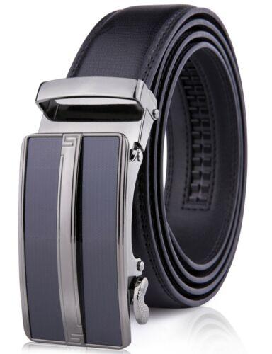 Microfiber Leather Mens Ratchet Belt Belts For Men Adjustable Automatic Buckle