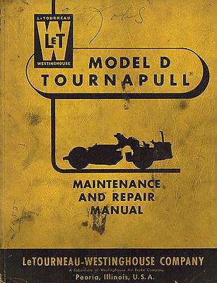 Letourneau D Turnapull Maintenance Service Manual