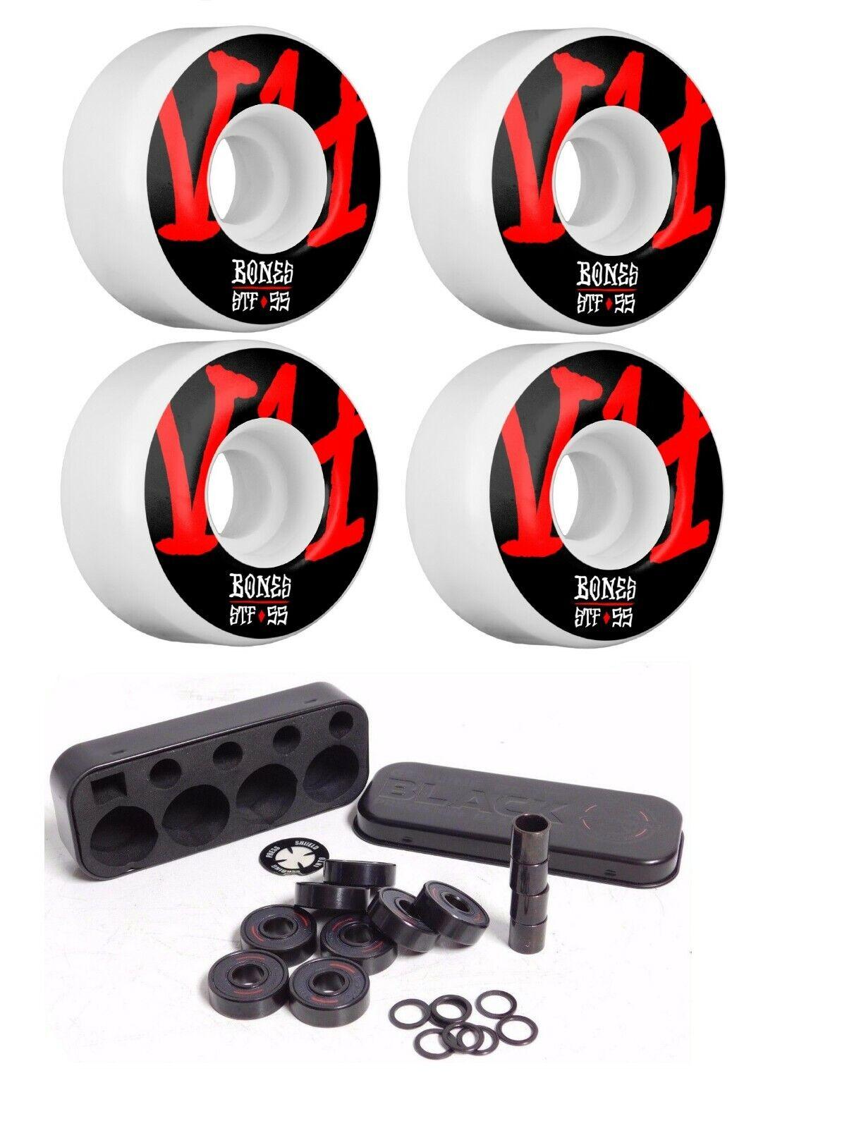 Bones 55mm V4 STF Annuals Skateboard Wheels 103A + Free Inde