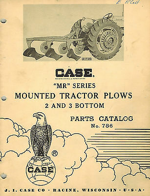 Case Vintage Mr 2 3 Bottom Mounted Plows Parts Manual