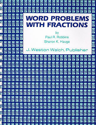 - REMEDIAL Fractions Workbook WORD PROBLEMS WITH FRACTIONS Good Math Practice