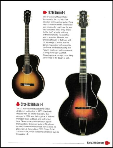 1920 Gibson L-5, 1929 L-1, Mr. Nick Lucas guitar history article / pin-up photo