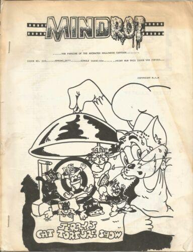 Fanzine MINDROT #6  Animated Cartoon Spring 1977 - 14 pages - David Mruz editor