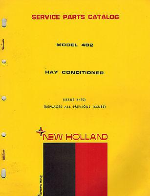 New Holland 402 Hay Conditioner Parts Manual