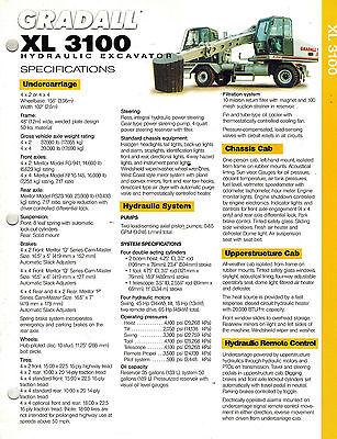Gradall Xl3100 Hydraulic Excavator Brochure 2002