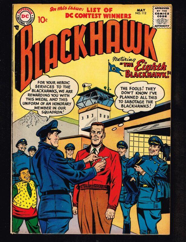 Blackhawk #112 ~ 1958 Eigth Blackhawk ~ (6.0) WH