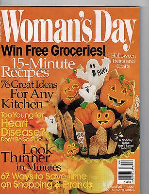 Woman's Day 2001 Halloween Crafts Treats Recipes Kitchens Christmas Countdown](Christmas Treats Recipes)