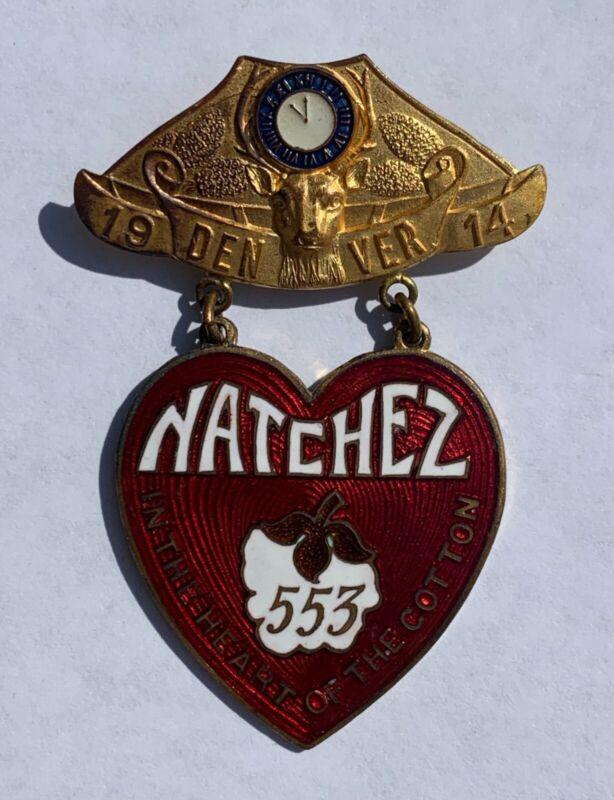 Antique Natchez MS WHITEHEAD & HOAG Newark, NJ Elks Reunion Denver B.P.O.E