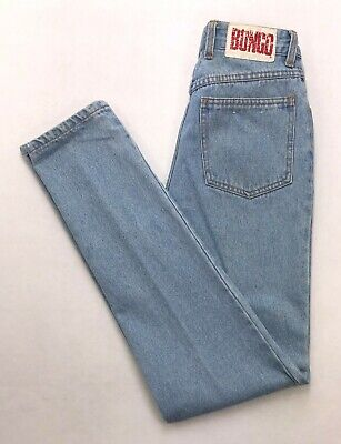 Jeans-tag (P227 VTG Bongo High Rise Slim Tapered Mom Jeans Tag sz 5 (Mea 25x32))