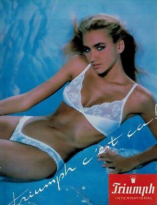 1986 TRIUMPH  Sexy Woman  Bra & Panty French Magazine Print Ad