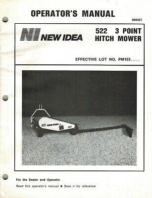 New Idea 522 3 Point Hitch Mower Operators Manual