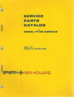 New Holland Tr95 Combine Parts Manual