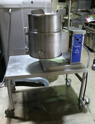 Used Cleveland Model Ket-6t 6-gallon Electric 208603 Tilting Steam Kettle 1998