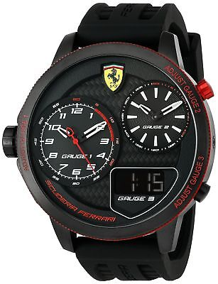 Scuderia Ferrari Mens Xx Kers Quartz Stainless Steel And Silicone Casual W