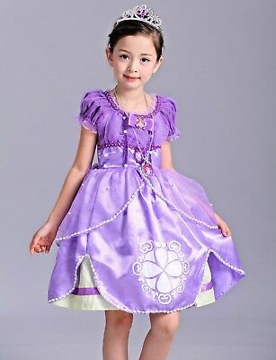 2018 Kids Gorgeous Sofia The First Costume Girls Princess Dress Gown 3-9 O62 - Princess Sofia The First
