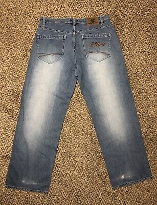 Vintage G UNIT Denim HeavyWeight 50 CENT Baggy Faded Hip Hop Denim Jeans 36x32