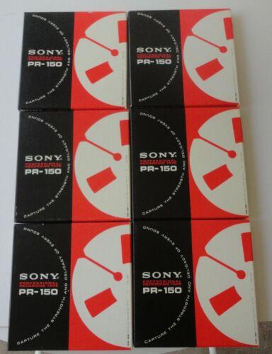 6 New Vtg Sealed Box Sony PR-150 Reel To Reel Professional Recording Tape 1800