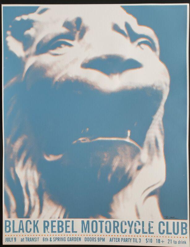 Black Rebel Motorcycle Club Concert Poster 2003 Kevin Mercer S/N Philly