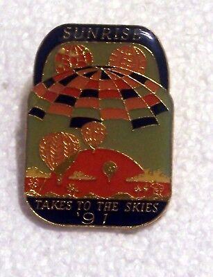 1991 SUNRISE TAKES TO THE SKIES BALLOON PIN