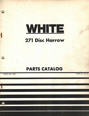 White 271 Disc Harrow Parts Manual