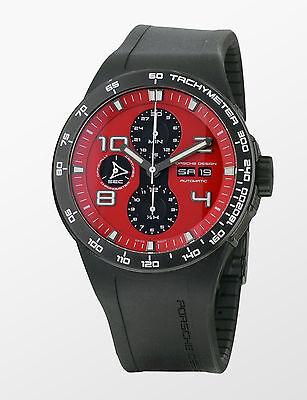 Porsche Design Men's 6340.43.73.1169 Flat Six Automatic Chronograph Red Dial